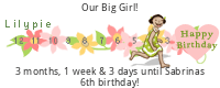 Lilypie Kids Birthday tickers