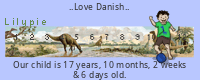 Lilypie Danish Birthday tickers
